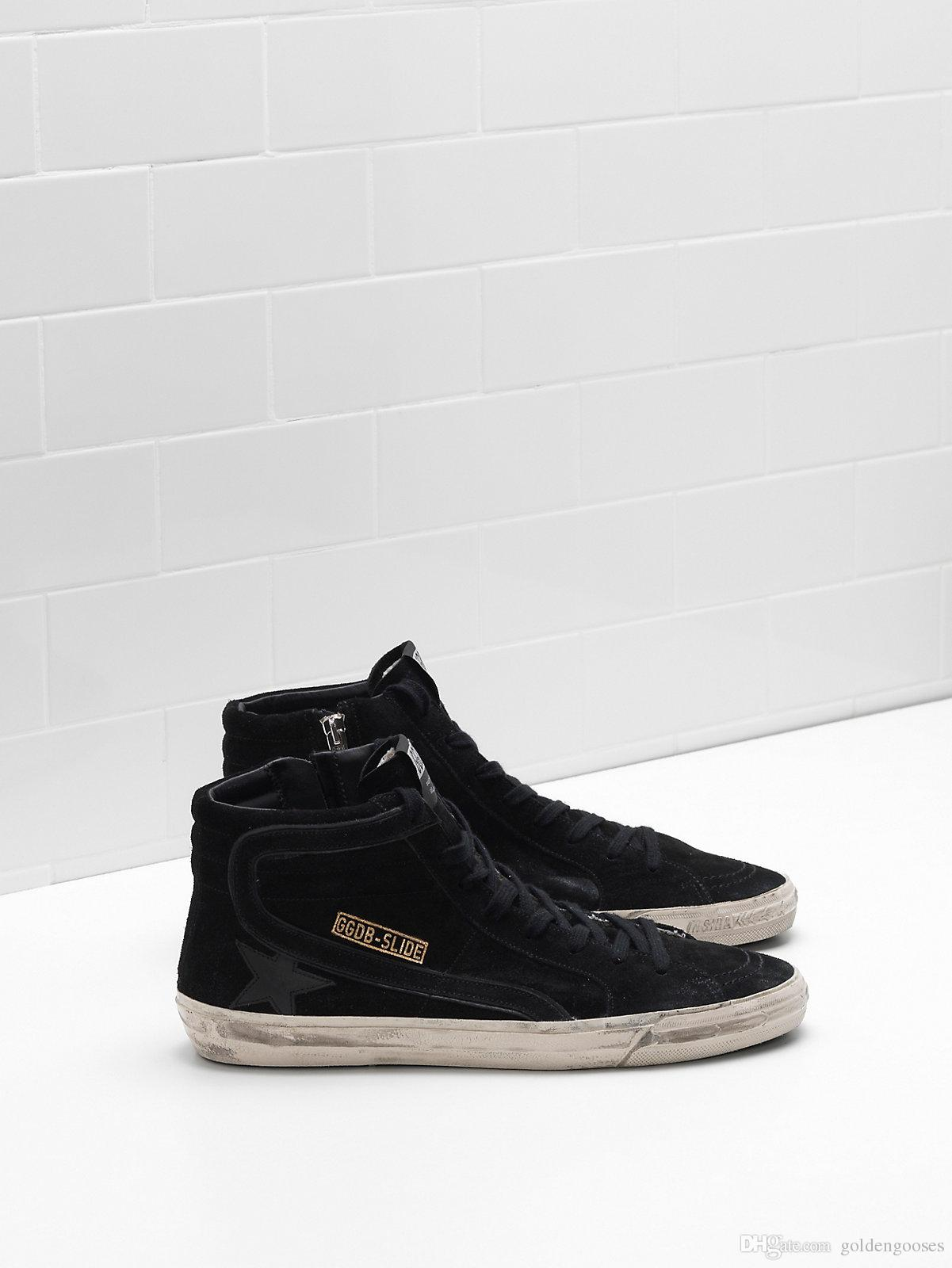 3adfa786d86a4 Italy Men Women Style Femme Homme Slide Sneakers Calf Suede Upper ...