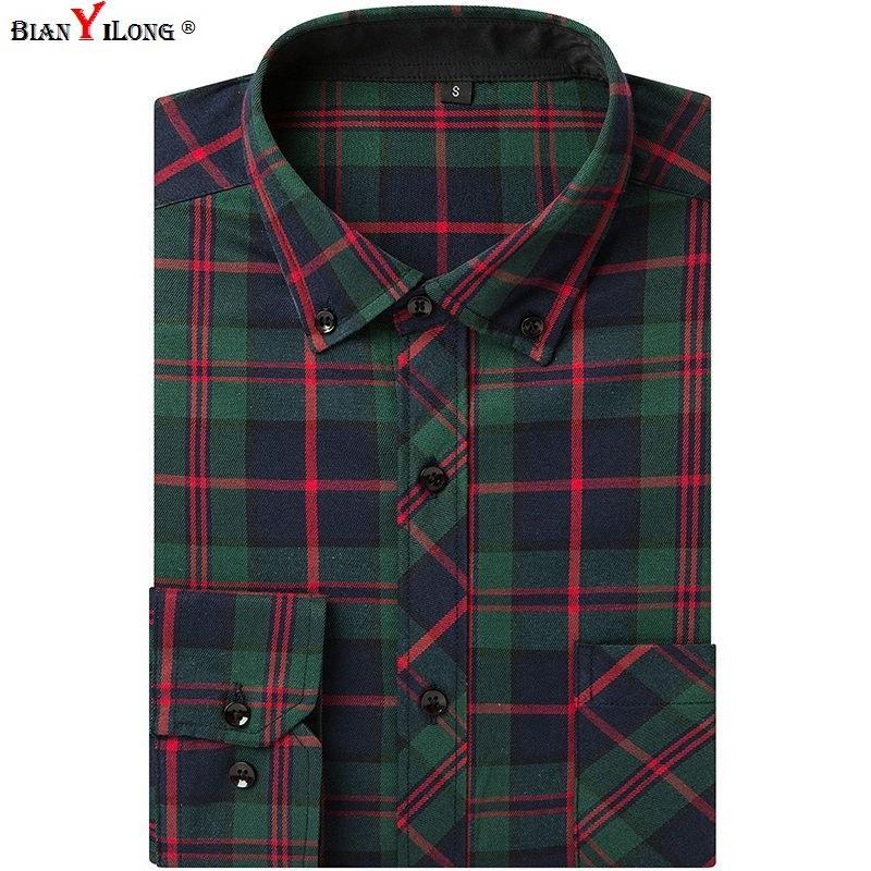e25788bbc5 Compre EUA Tamanho Grande 3XL Camisas De Manta De Flanela Dos Homens  Vestido 100% Algodão De Alta Qualidade Masculino Casual Conforto Macio E De Manga  Longa ...