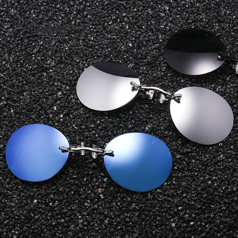 b245d99cda9ba2 NYWOOH Clip On Nose Sunglasses Men Retro Hacker Empire Matrix Morpheus  Rimless Sun Glasses Vintage Round Glasses Mens UV400 Sunglasses Shop Bolle  Sunglasses ...