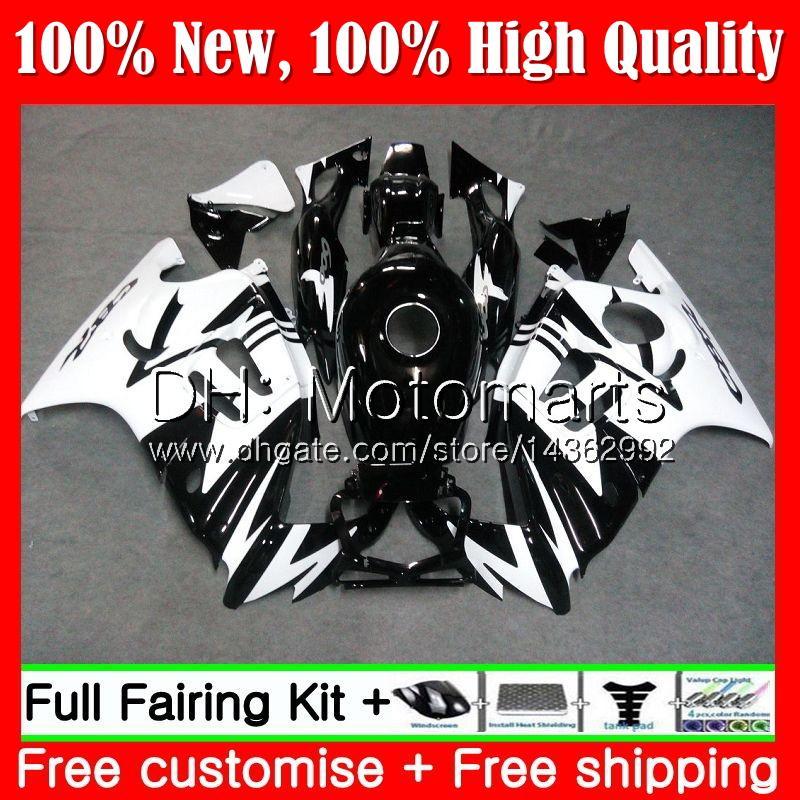 Cuerpo negro blanco para HONDA CBR600 F3 CBR600RR F3 CBR600FS 95 96 47MT19 CBR 600F3 FS CBR600F3 CBR 600 F3 1995 Kit de carrocería Fairing