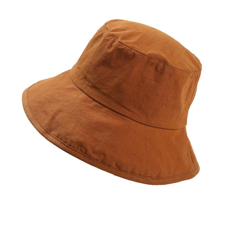 afb5c0dbe Plain Solid Color Safari Sun Bucket Fishermen Fisherman Washed Cotton Hat  Women Big Brim Hats Sun Hats Sun Hat From Rainbowwo, $16.42  DHgate.Com