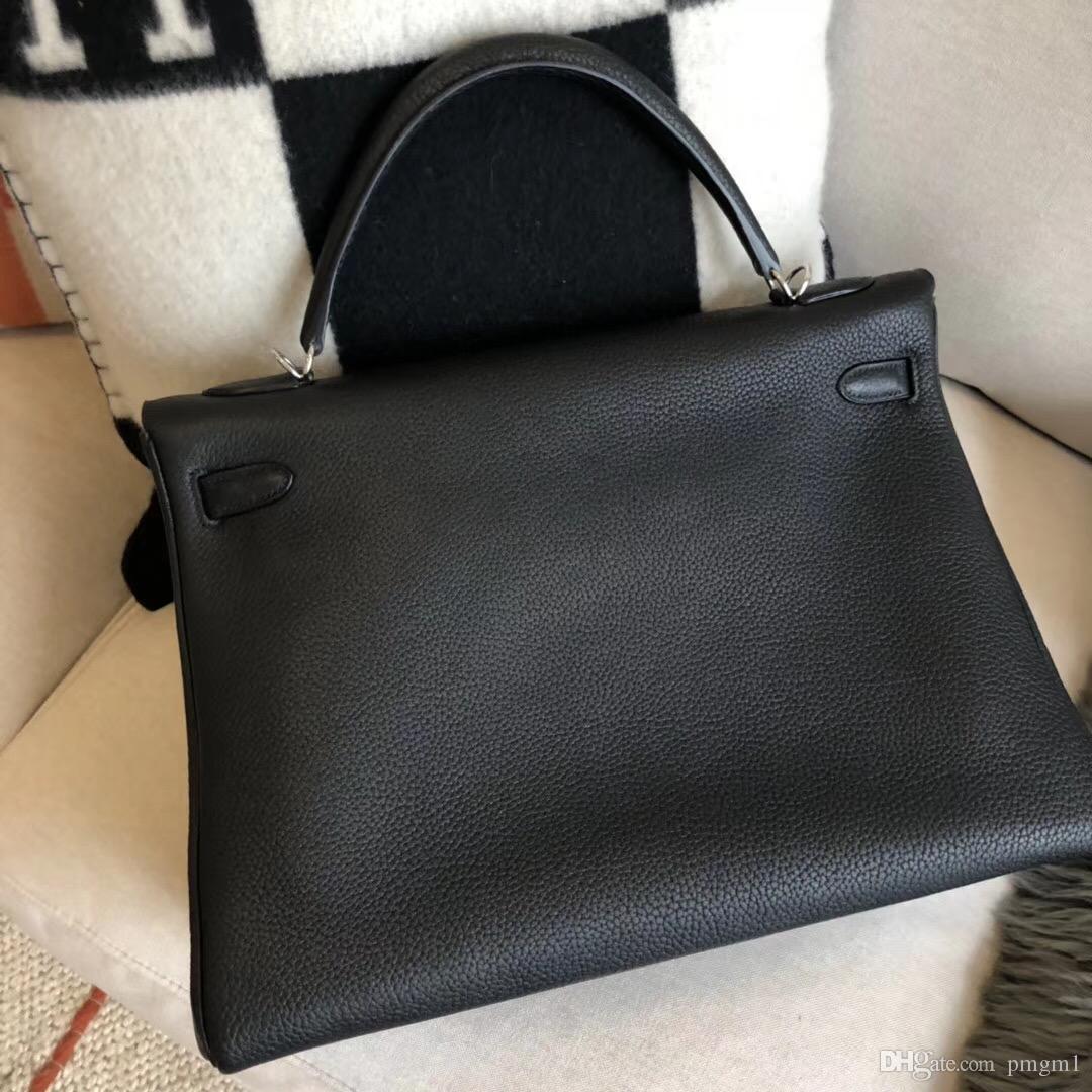 18ecedfc3924 Роскошные женские дизайнерские сумочки высокого качества H бренда 100%  ручной работы togo TOP Подлинная кожа знаменитый hs ручной мешок 40 см женщин  сумка