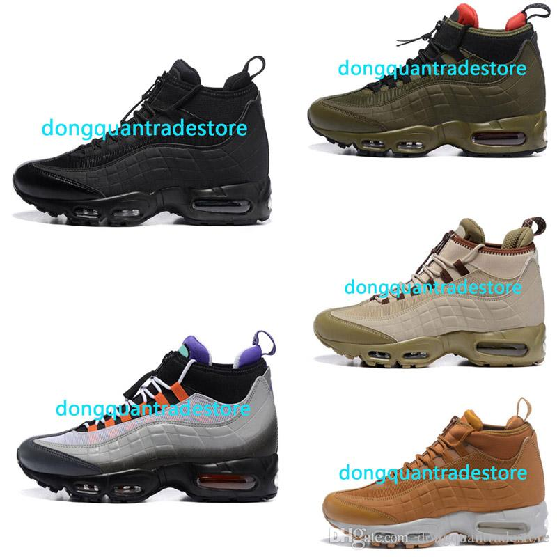 0c4a47a6f06c0f Hot Sale Cushion 95 Mens Shoes 95 Sneakerboot Black Army Green Running Shoes  Training Sneakers Sport Shoes Running Shoes Men Running Accessories From ...