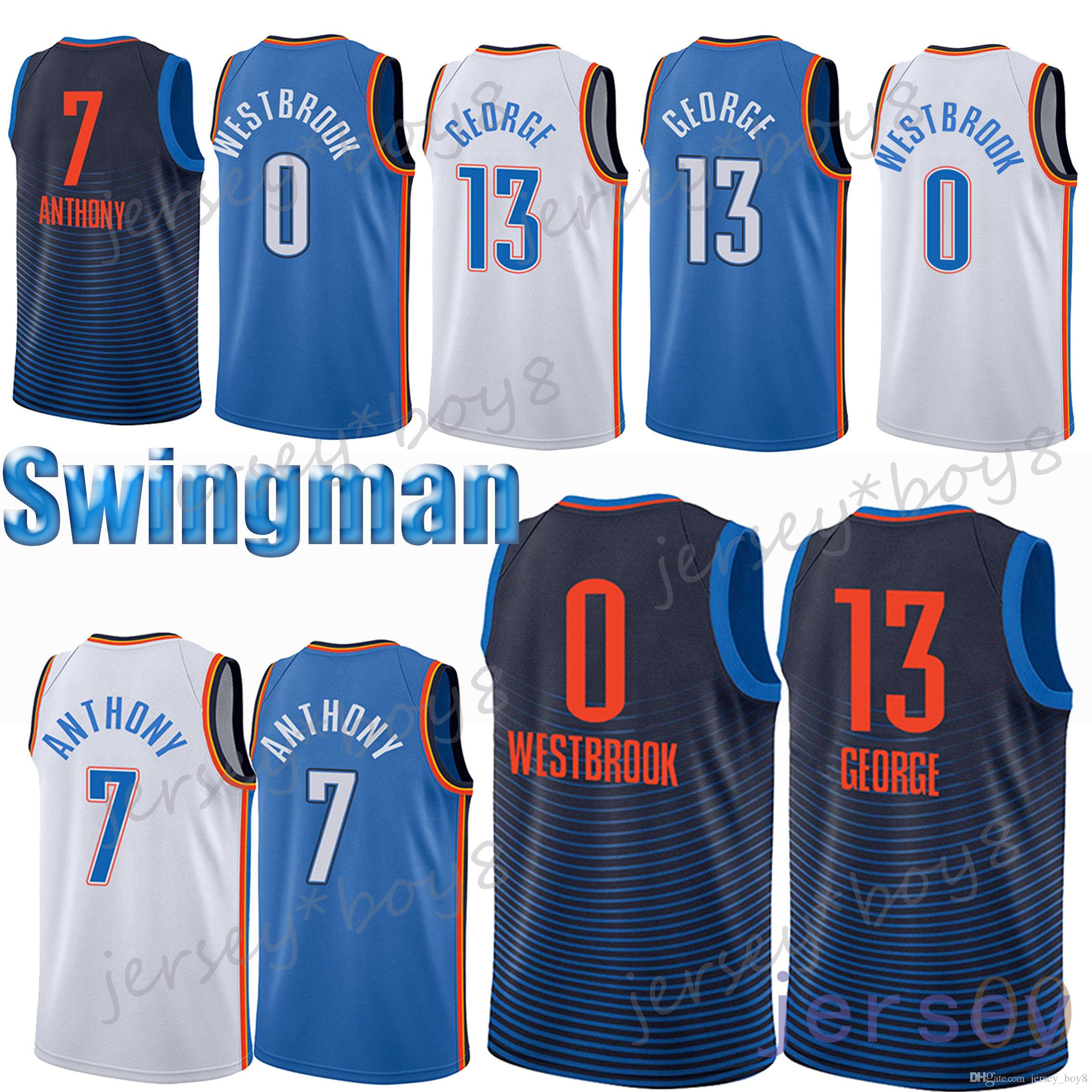 3004cc8e0331 ... jersey 0 authentic turquoise nba italy 0 russell westbrook jerseys 13  paul george jerseys 7 carmelo anthony embroidery logos 100 stitched ...