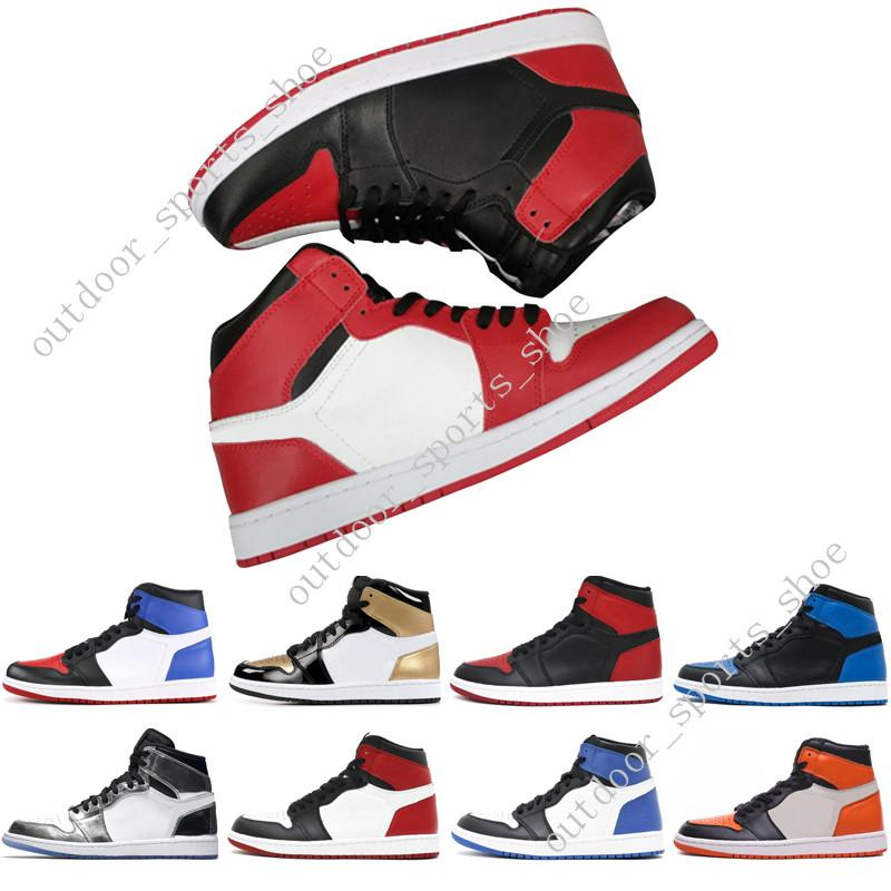1s Mid OG 1 top 3 mens scarpe da basket Homage To Home Banned Bred Toe Chicago Royal Blue Shattered Backboard uomo sneakers sportive designer