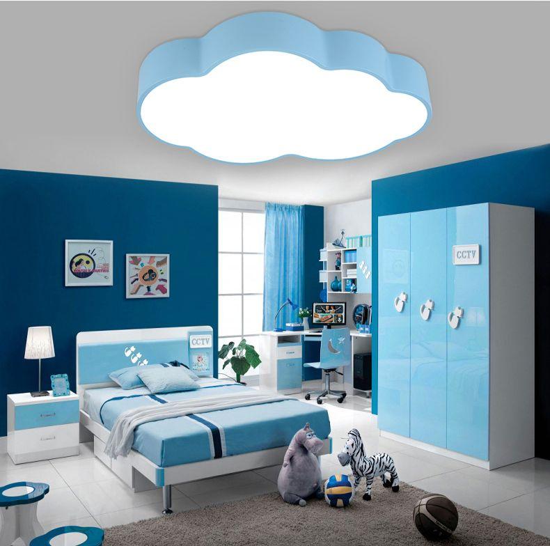 Moderne bref enfants chambre bleu nuage fer plafonnier maison déco salle à  manger acrylique plafonnier
