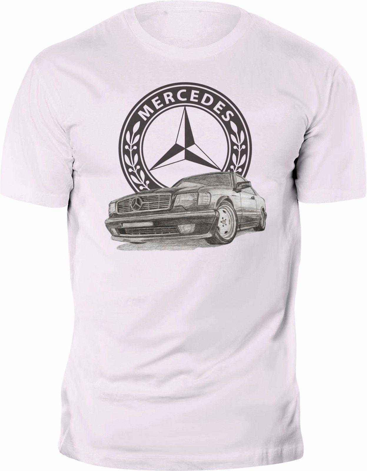 new t shirt mercedes benz sec c126 w126 logo retro amg tee. Black Bedroom Furniture Sets. Home Design Ideas