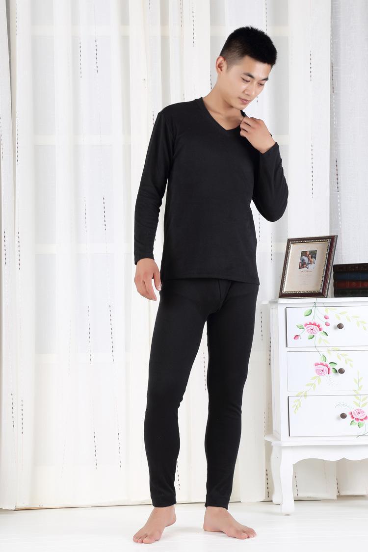 2017 autumn winter men cotton long johns warm knitting thermal underwear sets tops+high waist pants plus size xl- 5xl 6xl 7xl