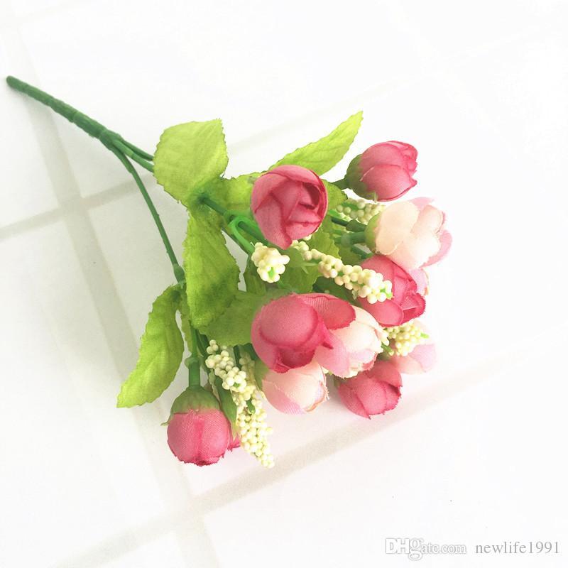 Hochzeit Rose Dekoration Frühling Perle Knospe romantische Rosen Blume Party Geburtstag Wed Dekore Bühne Blumen spezielle Festival Geschenk
