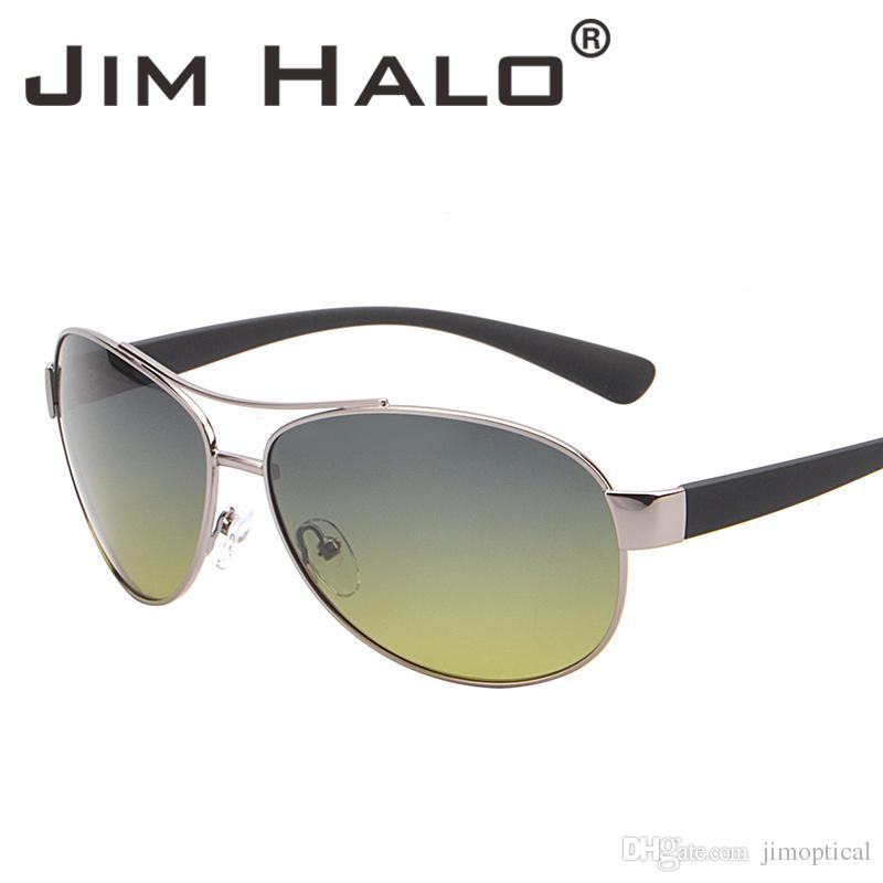 7bc731d4832 Jim Halo Polarized Sunglasses Oversized Gradient Lenses Matte Temple ...