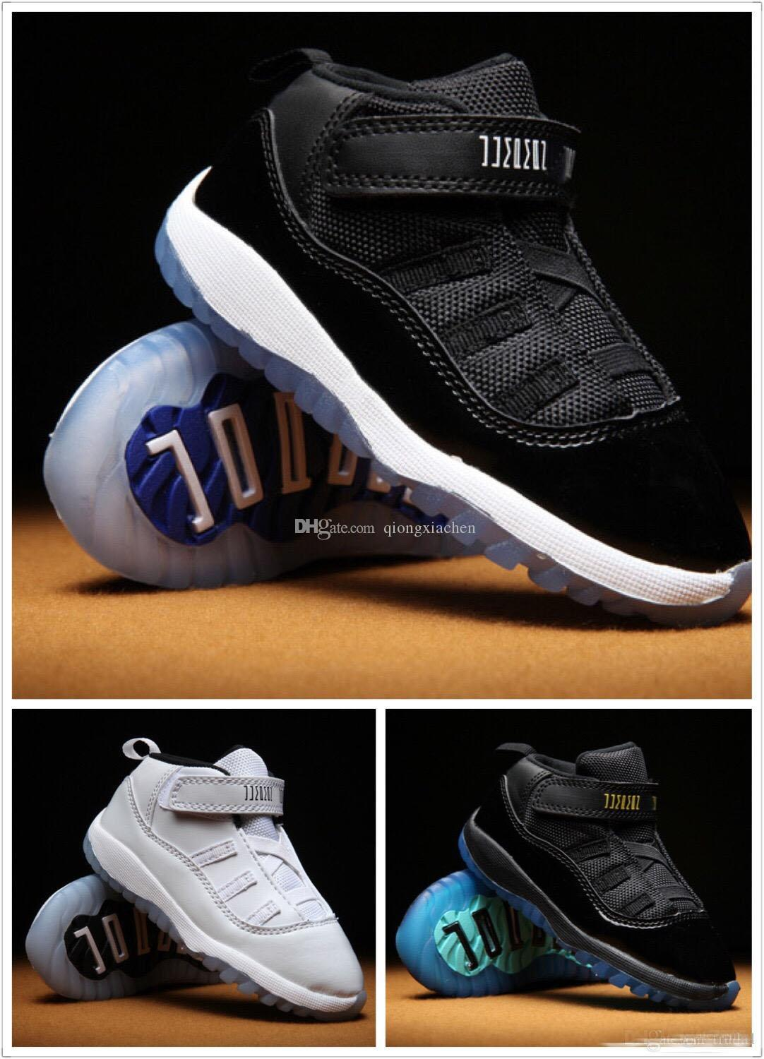 finest selection 0710a 6b8ba Kids 11 XI Space Jam Shoes Little Baby Boys Girls Toddlers 11s Gamma  Concord Bred Pre-Walkers Sneaker 6C-10C