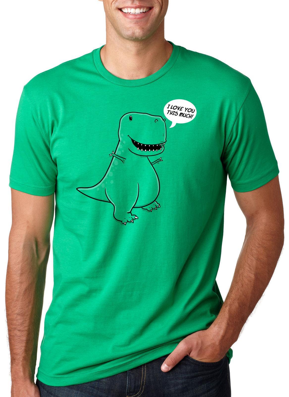 Divertenti Novità T-Shirt UOMO Tee T-Shirt-testato su Dinosauri