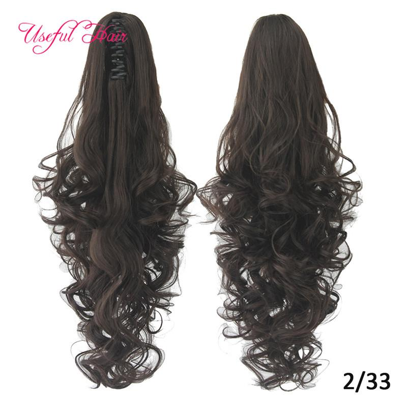 blondr hair long ponytails Synthetic Ponytails Long Curly Claw Ponytail Clip In Hair Extensions Hairpiece Pony Tail Synthetic High Quality