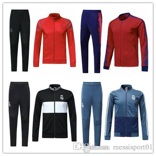 ee682d975 Real Madrid Jacket Suit Soccer Veste 18 19 Maillot De Foot Chandal ...