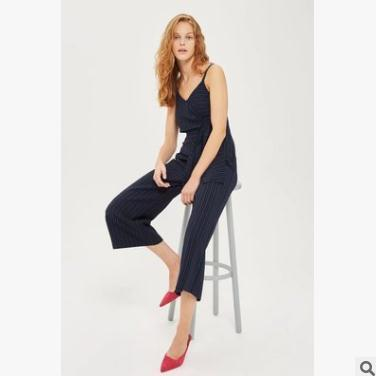 e190500458 2019 Summer Women Jumpsuits Striped Bow Strap Jumpsuit Wide Leg Pants  Fashion Casual Elegant Formal Rompers Trousers From Sexystores520