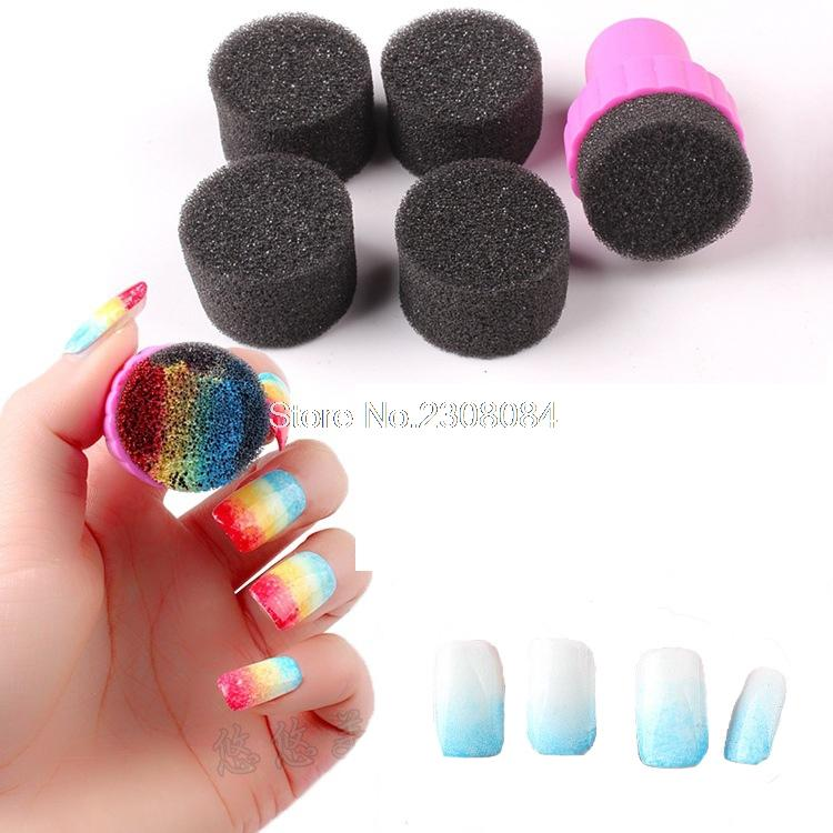 Nail Art Painting Sponge Nails Equipment Simple DIY Change Color ...