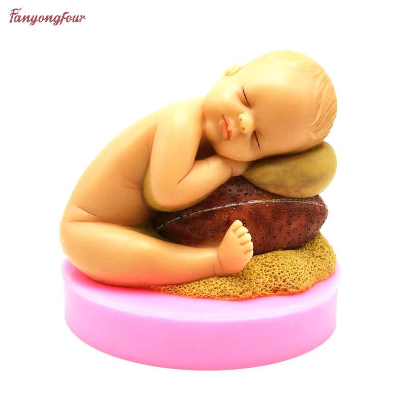 3D hold football baby drowsiness handmade soap mold chocolate cake decoration tools DIY silicone mold sugar candy mold