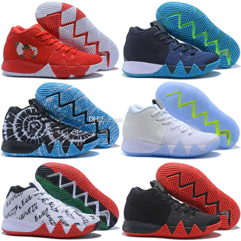 new product a2b37 f2949 2018 New Kyrie IV Shoes Power is Female Irving 4 men Basketball shoes 4s  Brand Athletic Shoe Sports Mens Trainers Sneakers size 40-46