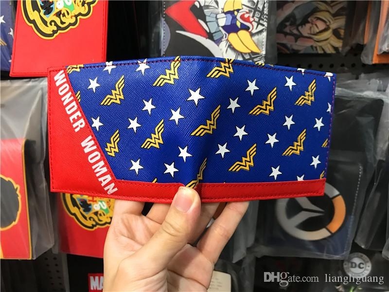 2017 Hot sale Movie Wonder Women Anime Women Wallets For Teenagers Studerts Short Simple Purse Dollar Price Leather Cards Holder