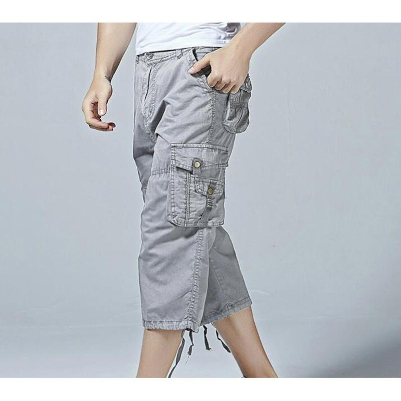 c564813bc4 2019 New Short Pants Men Cotton 3/4 Length Cargo Overall Casual Man  Sandbeach Shorts Calf Length Pants From Happy_snow, $23.23 | DHgate.Com