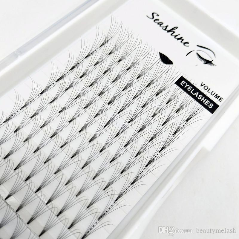 Klasik 6D Kısa Kök Kirpik Uzantıları 0.07 Kalınlığı Bireysel Lashes Saç Vizon Hacmi Kirpik Bireysel Lashes Hayranları Ücretsiz Kargo