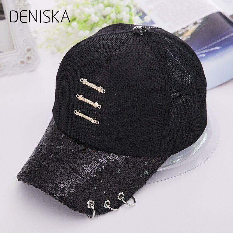 dbdbbdf8ada 2018 New Iron Ring Cap Women Baseball Cap With Rings Snapback Hip Hop Hats  For Women Men Hat Kpop Cap Hat Flat Caps For Men From Huazu