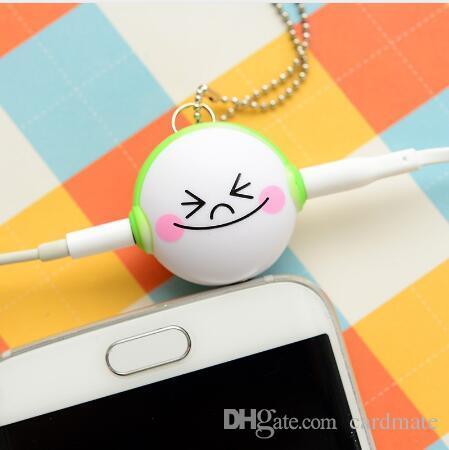 2018 Mini Cute 3,5 mm Doppel-Klinkenadapter an Kopfhöreranschluss für Samsung für iPhone 5 6 6s MP3 Player Splitter-Adapter von cardmate