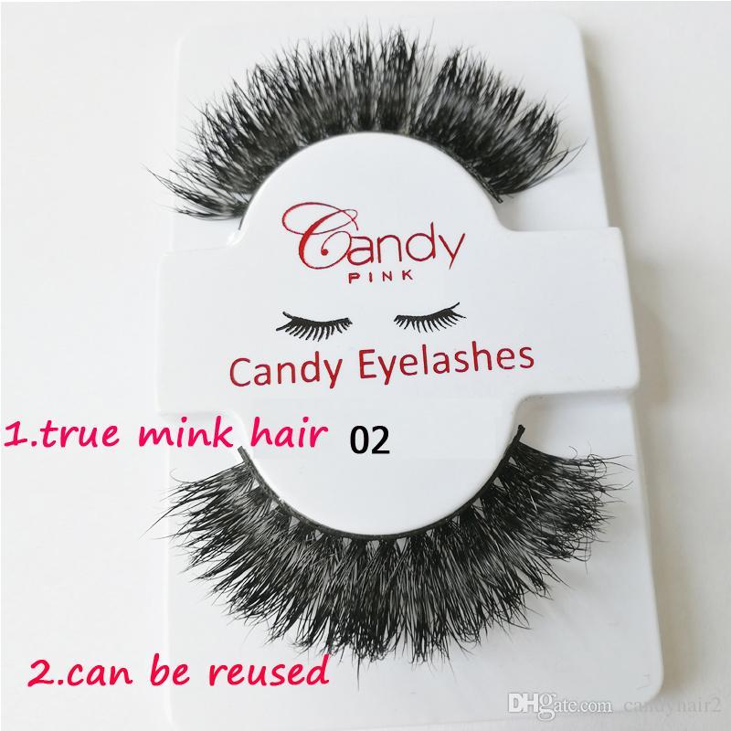 mink Hair Eyelashes False Eyelashes Extensions Full Strip Lashes Hand Made Permanent Fake Lashes mink Hair stock drop shipping private logo