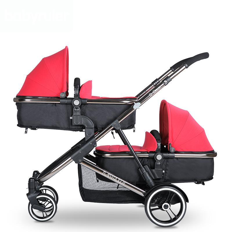 Brand Baby Twins Strollers Babyruler Twins Baby Stroller Folding