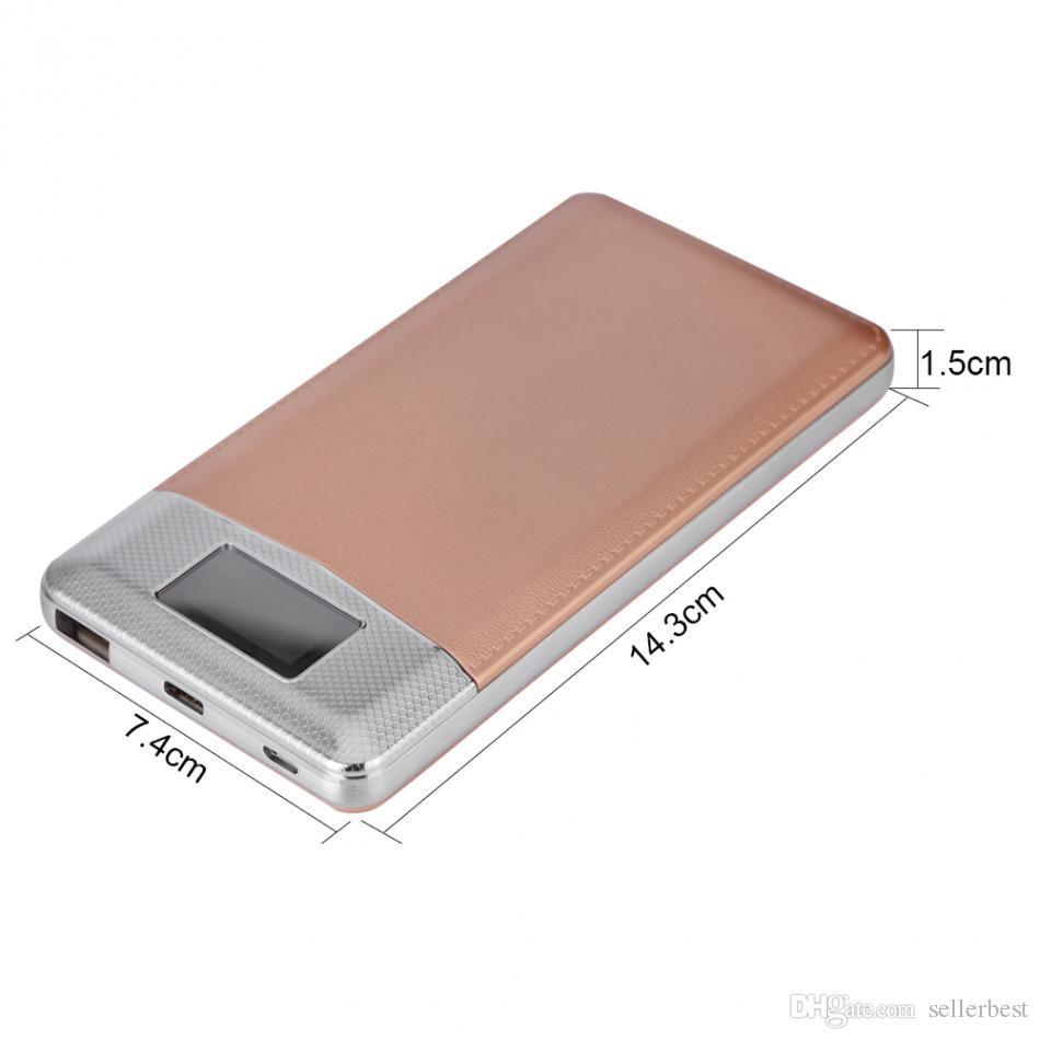 VBESTLIFE USB Charger Power Bank Case Circuit Board DIY Kit QC3.0 Fast Charging Micro USB USB Type-C Input LCD Digital Display