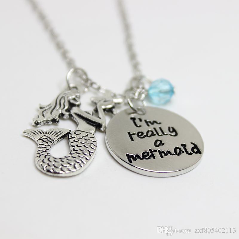 / kleine Meerjungfrau inspirierte Halskette