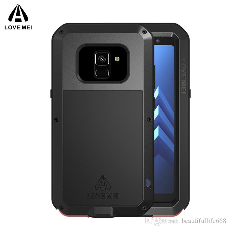 official photos e8f33 cacd3 LOVE MEI Metal Case for Samsung Galaxy A8 A8 A6 A6 2018 Aluminum Powerful  Dropproof Life waterproof Armor Case for galaxy A6 A8 2018
