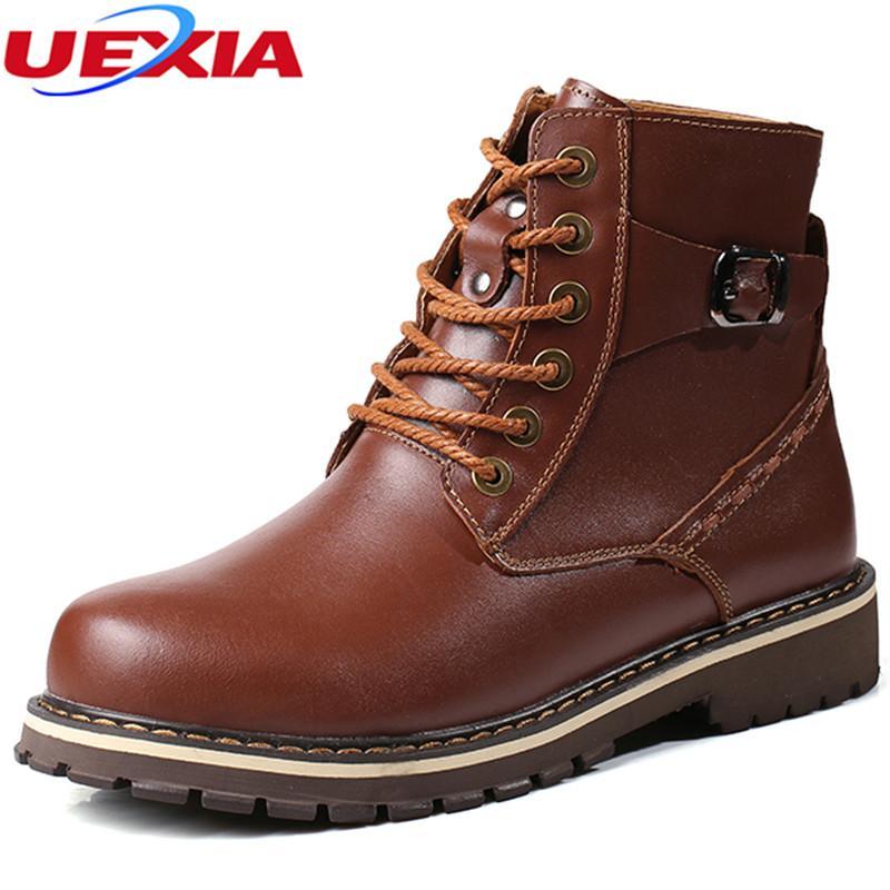 50f07d882bfcaf Großhandel Hohe Qualität Neue Stil Männer Stiefel Plus Größe 37 ~ 50  Arbeits Pelz Stiefeletten Mode Winter Männer Schuhe Super Warm Winter Schuhe  ...