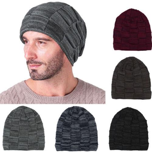 482ed4e6a7b 2019 Men S UNISEX Knit Baggy Beanie Oversize Fashion Winter Hat Ski Slouchy  Chic Cap From Annuum