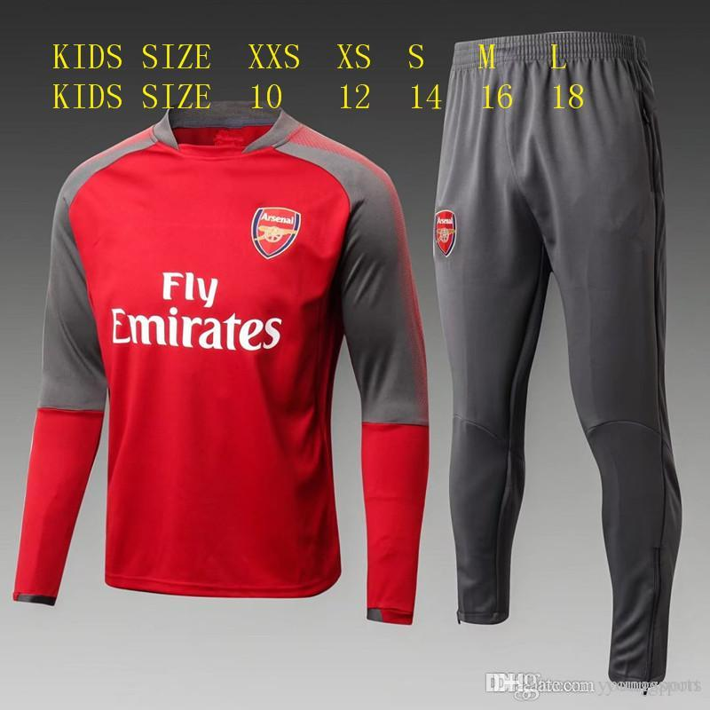 dad2907f8 TOP Best Quality 2017 2018 Kids Kit Football Soccer Tracksuit 17 18 ...