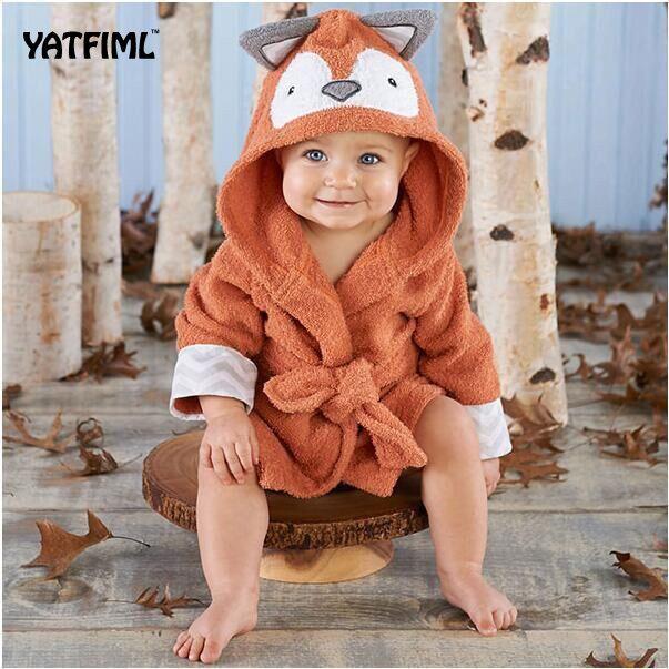 81d0ae5238 YATFIML Children Robes Flannel Pajamas Baby Bathrobe Kids Home Wear Baby  Hooded Bathrobe Bath Towel Bath Terry Bathing Robe Y18102908 Matching Pjs  For Kids ...