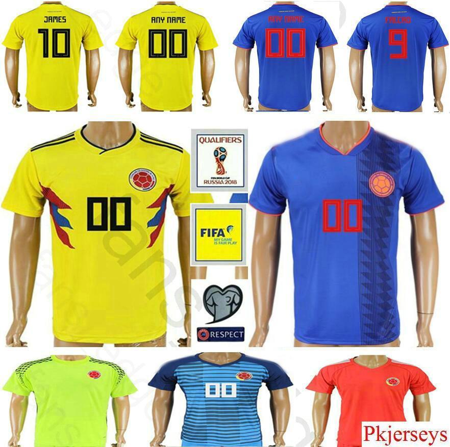 2018 World Cup Colombia Soccer Jerseys 1 OSPINA 2 ZAPATA MURILLO RAMIREZ 5  W.BARRIOS 6 SANCHEZ Men Women Youth Kids Football Shirt Colombia Jerseys  Colombia ... a88770dba