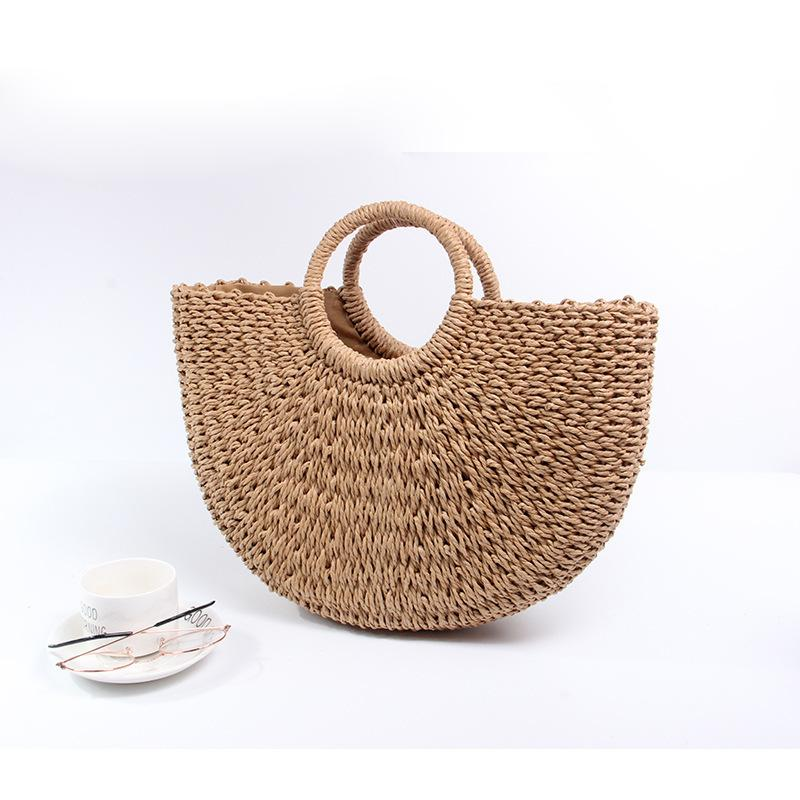 Hand Woven Straw Bags Casual Tote New Summer Beach Bag For Women 2018 Large  Capacity Shopping Bags Women Handbags Dames Tassen Online with  53.38 Piece  on ... 9e74555e3eff9