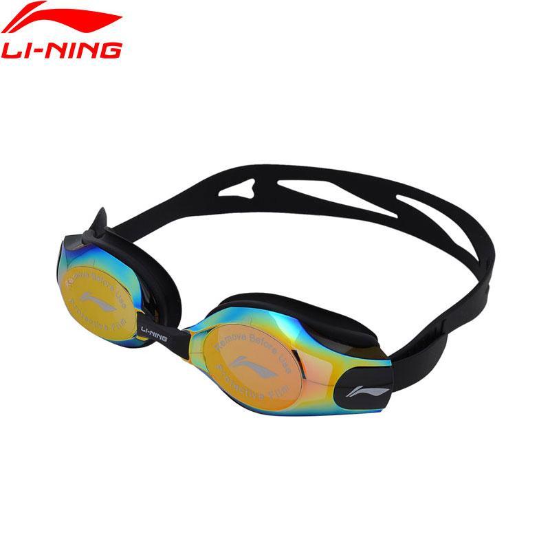 3baee944c29 Li-Ning Unisex Professional Swim Eyewear Anti-UV PC Goggles National ...