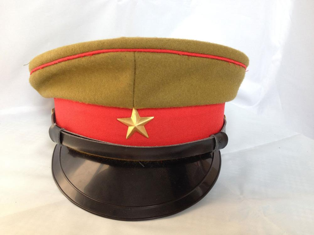 ab3a1b66d78 2019 WWII IMPERIAL JAPANESE ARMY OFFICER S WOOL VISOR CRUSHER CAP HAT IN  SIZES World Store From Suipao