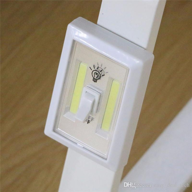 Magnetic COB LED Switch Wall Night Lights Cordless Lamp Battery Operated Cabinet Garage Closet Camping Emergency Light Q0397