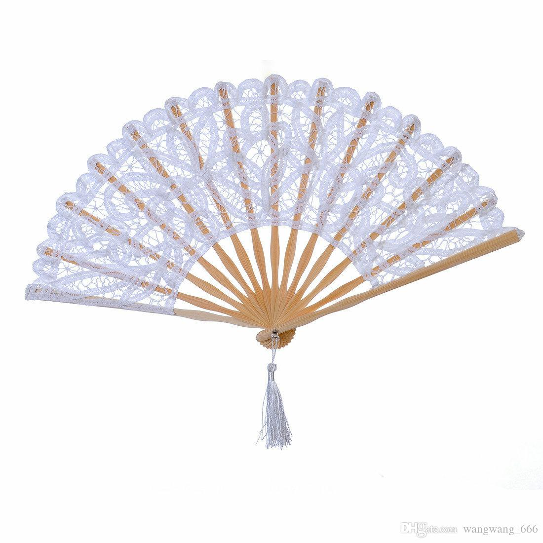 Hollowed Out Lace Fan Spanish Victorian White Lace Dancing Fan ...