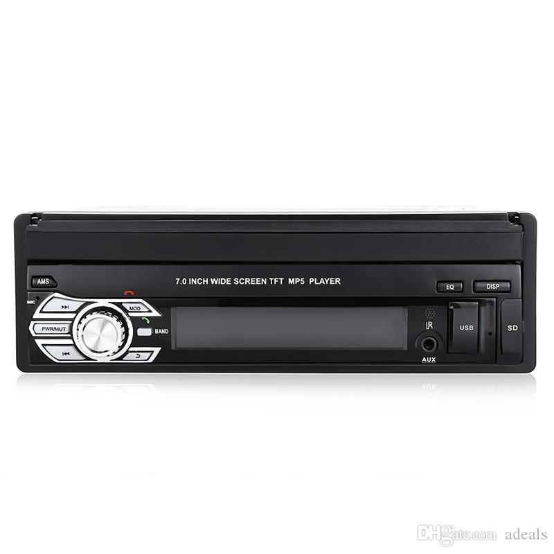 12V Coche Estéreo Bluetooth coche DVD Reproductor multimedia MP5 Reproductor de audio Teléfono USB / TF Radio En el tablero 1 DIN 7 pulgadas 5 idiomas