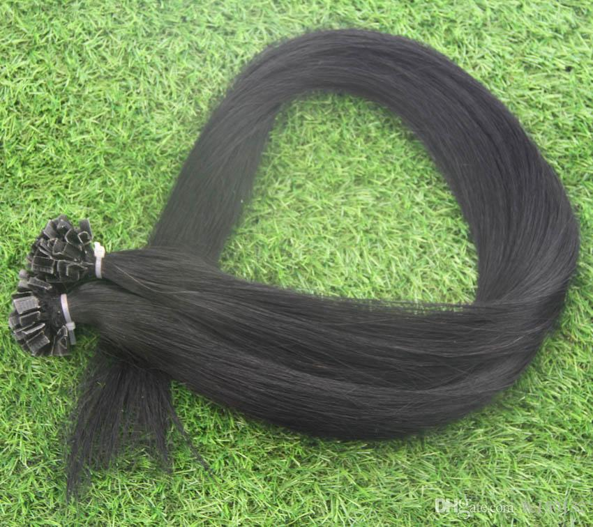 Remy Double Drawn V Tip Hair Extension 100s Capsules Keratin Pre Bonded Hair 100g 100% Remy Pre Bonded Human Hair V Tip Extensions