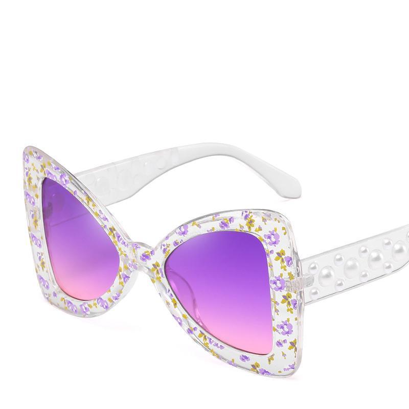 Großhandel 2018 Große Perle Schmetterling Sonnenbrille Frauen ...