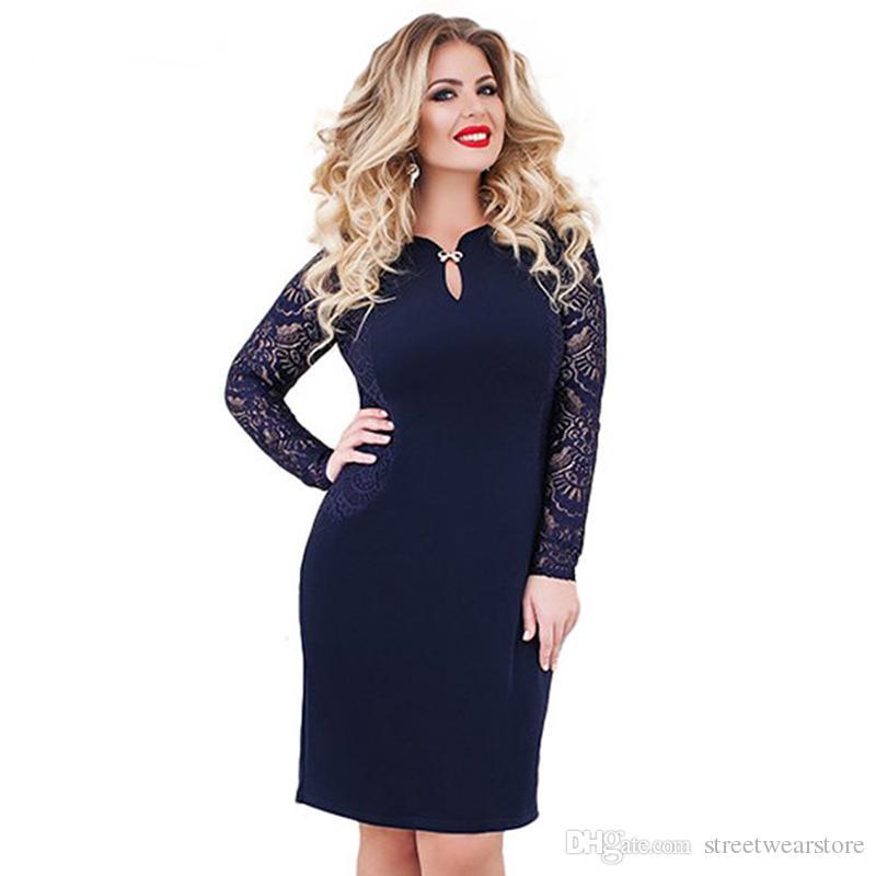 5XL 6XL 2018 New Lace Dress Plus Size Bodycon Bandage Dress Sexy ... 56a8396d803a
