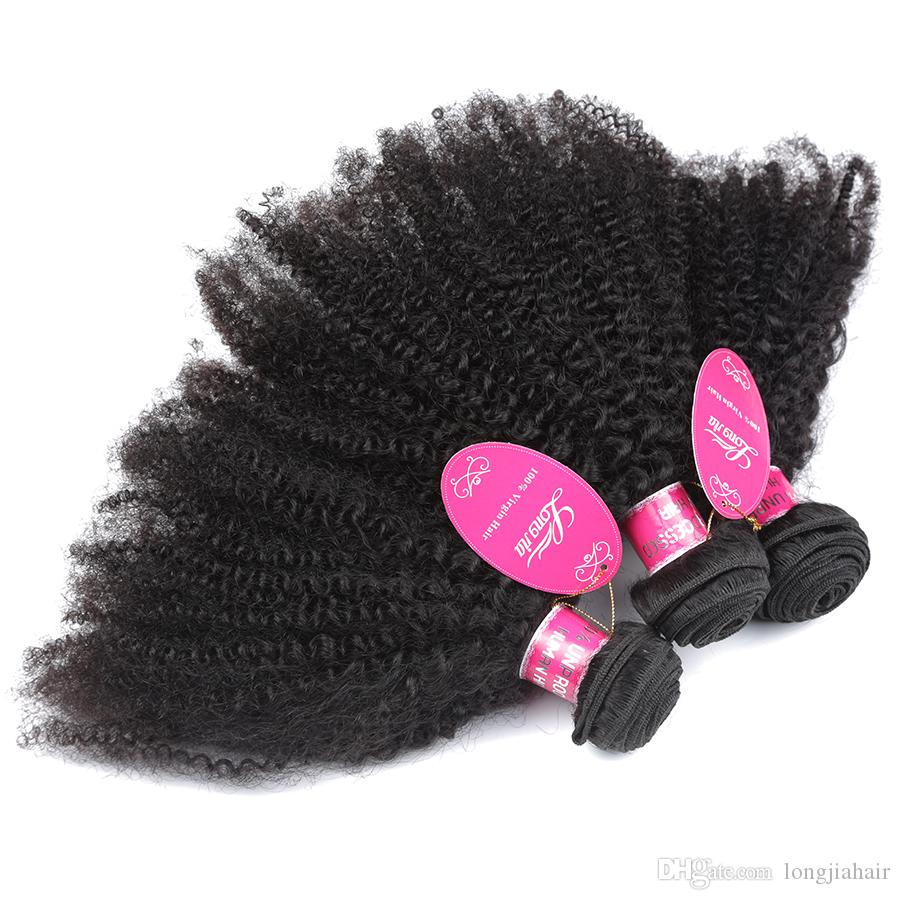 Unprocessed 8A Peruvian Human Hair Afro Curly 3 Bundles /Peruvina Kinky Curly Weave African American Afro Kinky Curly Human Hair