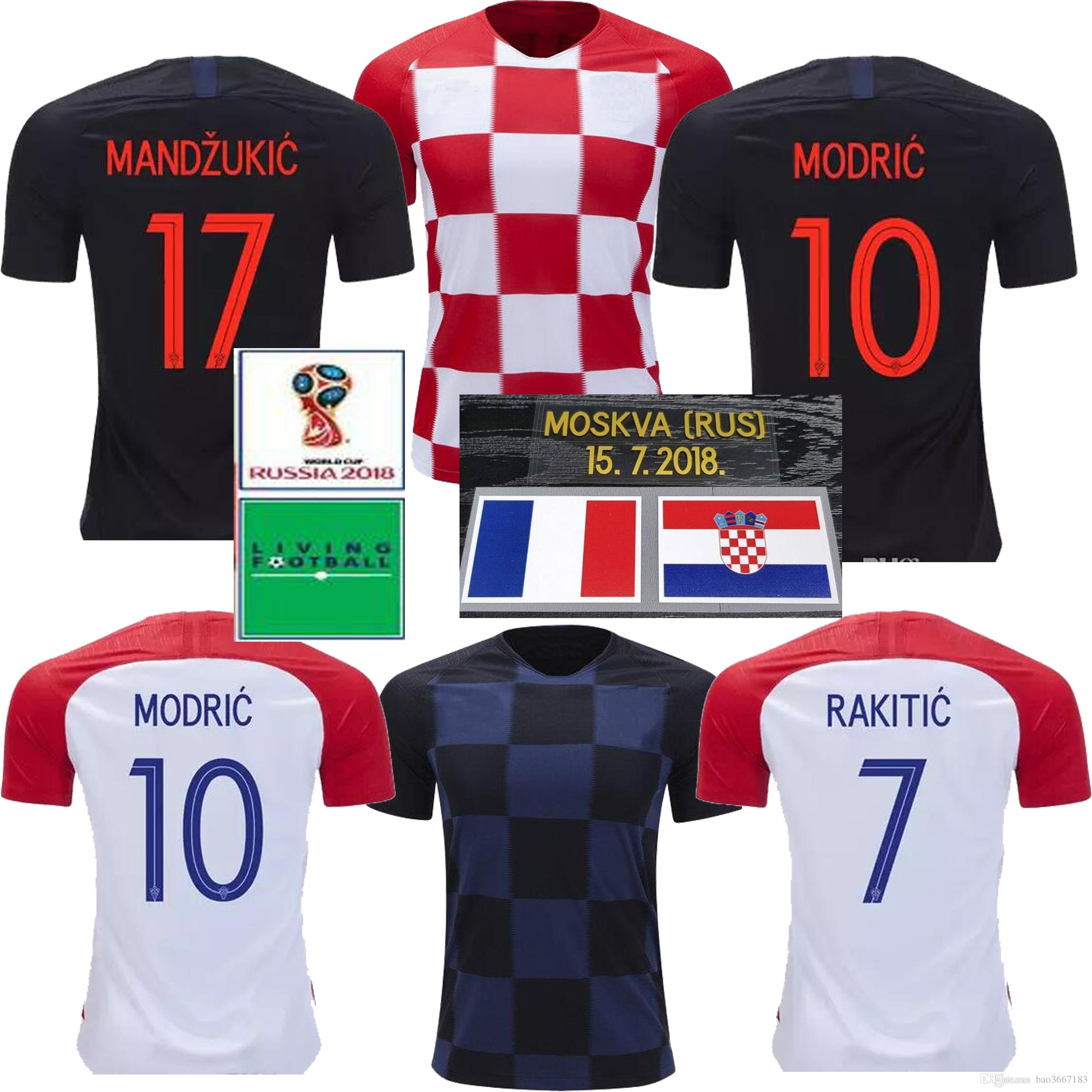 e47bbf547d8 ... czech get 2018 world cup modric mandzukic rakitic croatia home soccer  jerseys 2018 world cup camisetas