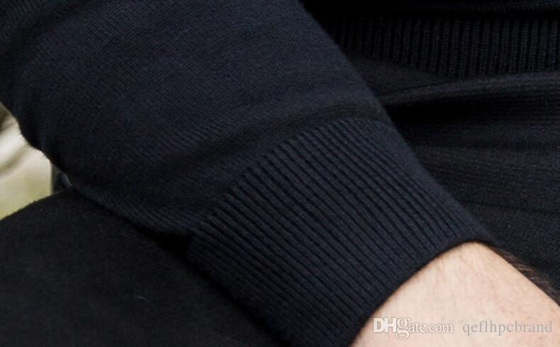 2018. Ropa de hombres. Jerseys para hombres. Otoño. Suéter de los hombres. Ropa de hombre de moda y de ocio. Primavera. Manga larga. Lana y Acrílico. A004