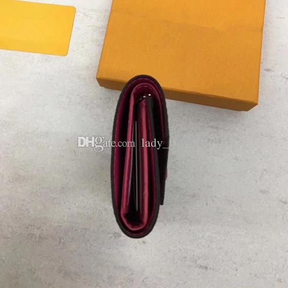 حقيبة يد نسائية كلاسيكية جودة عالية الجلود المطبوعة المرأة قصيرة محفظة لون الحلوى حقيبة 41938 سستة جيب فيكتورين